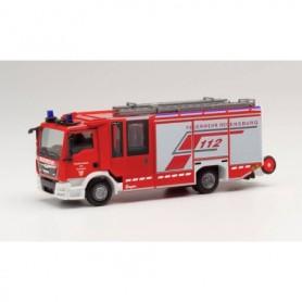 "Herpa 096171 MAN Ziegler Z-Cab emergency fire engine ""fire department Regensburg"""
