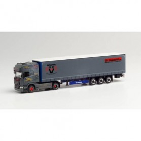 """Herpa 313483 Scania R `13 TL curtain canvas semitrailer """"HP Transped 