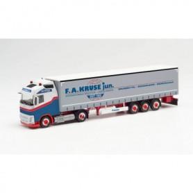 "Herpa 313407 Volvo FH Gl. LNG curtainside canvas semitrailer ""F.A.Kruse"" Schleswig-Holstein|Brunsbüttel)"