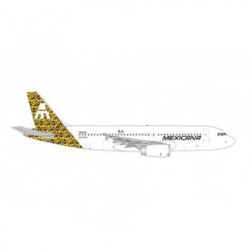 "Herpa Wings 535304 Flygplan Mexicana de Aviacíon Airbus A320 - Centenary Series - Talavera tail design – XA-RJX ""Tizatlan"""