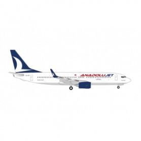 """Herpa Wings 535113 Flygplan AnadoluJet Boeing 737-800 – TC-JFT """"Kastamonu"""""""