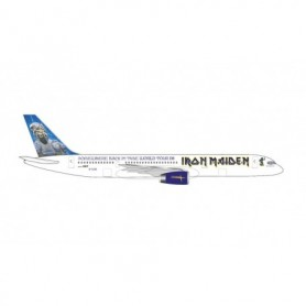 """Herpa Wings 535250 Flygplan Iron Maiden (Astraeus) Boeing 757-200 """"Ed Force One"""" - Somewhere Back in Time World Tour 2008 – G..."""