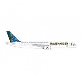 """Herpa Wings 535267 Flygplan Iron Maiden (Astraeus) Boeing 757-200 """"Ed Force One"""" - The Final Frontier World Tour 2011 – G-STRX"""