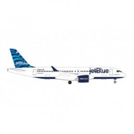 """Herpa Wings 535298 Flygplan JetBlue Airbus A220-300 - """"Hops"""" tail design – N3044J"""