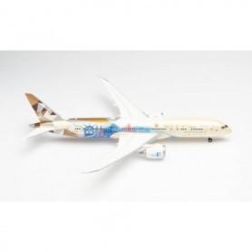 """Herpa Wings 571340 Flygplan Etihad Boeing 787-9 Dreamliner """"Choose the USA"""" – A6-BLE"""