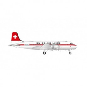 """Herpa Wings 571357 Flygplan Swiss Air Lines Douglas DC-4 – HB-ILU """"Unterwalden"""""""