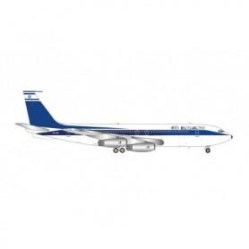 """Herpa Wings 571432 Flygplan El Al Boeing 707-400 – 4X-ATA """"Shehecheyanu"""""""