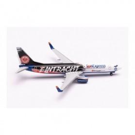 """Herpa Wings 613200 Flygplan Sun Express Boeing 737-800 """"Eintracht Frankfurt - SGE Express"""" – TC-SPC"""