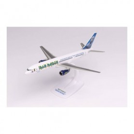 """Herpa Wings 613255 Flygplan Iron Maiden (Astraeus) Boeing 757-200 """"Ed Force One"""" - Somewhere Back in Time World Tour 2008 – G..."""