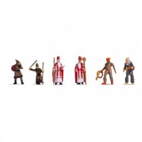 Noch 15929 Santa Claus & Knecht Ruprecht, 6 figurer