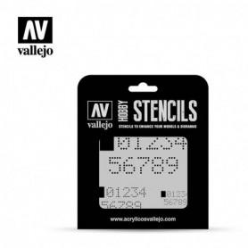 Vallejo ST-SF004 Stencil Sci-Fi & Fantasy Digital Numbers