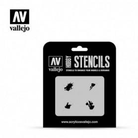 Vallejo ST-TX004 Stencil Texture Effects Petrol Spills