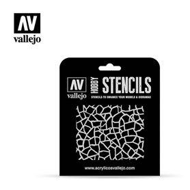 Vallejo ST-CAM003 Stencil Camouflages Giraffe Camo WWII