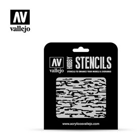 Vallejo ST-CAM004 Stencil Camouflages Pixelated Modern Camo