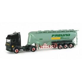 "Herpa 153300 DAF CF 85 silo semitrailer ""Freund"""