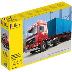 Heller 81702 F12-20 GLOBETROTTER & CONTAINER SEMI TRAILER