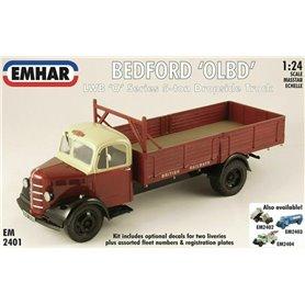 """Emhar 2401 Lastbil Bedford """"OLBD"""", LWB """"O""""-serien 5-ton dropside truck"""