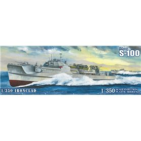 Aoshima 056592 German MTB Schnellboat S-Boat Ironclad