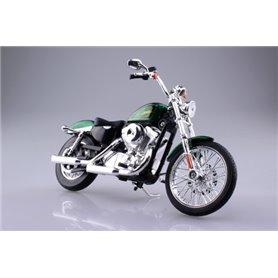 Aoshima 104477 Motorcykel HARLEY-DAVIDSON 2013 XL 1200V SEVENTY-TWO (GREEN)