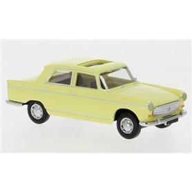 Brekina 29023 Peugeot 404, ljusgul, 1961, öppen taklucka