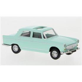 Brekina 29024 Peugeot 404, ljusgrön, 1961, öppen taklucka