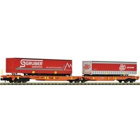 "Fleischmann 825016 Dubbelvagn Sdggmrs/T2000 typ AAE ""Gruber Logistics"""