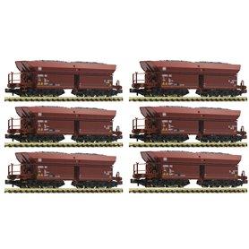Fleischmann 852702 12-piece set self unloading hopper wagons type Faalns 150, DB