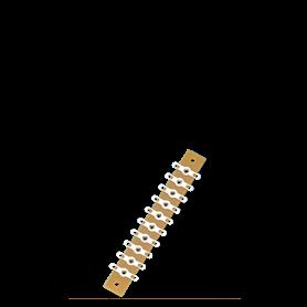 Brawa 3912 Kopplingsplint för lödning, 10 anslutningar, 72 mm längd
