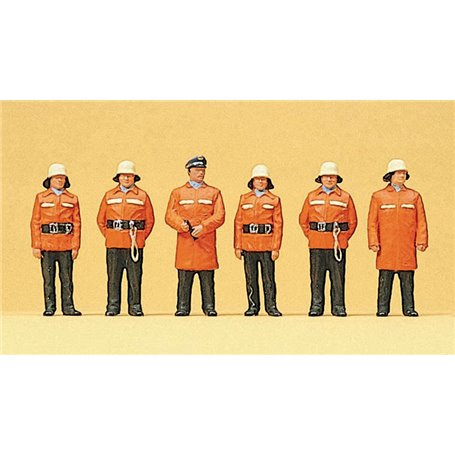 Preiser 10214 Brandmän med skyddskläder