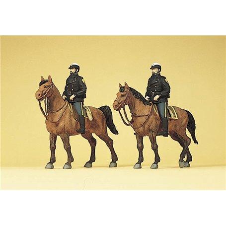 Preiser 10397 Polismän till häst
