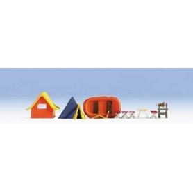 Noch 14811 Tillbehör för campingen. Stolar, tält, bord m.m.