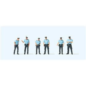 Preiser 10743 Poliser i sommaruniformer, 6 st