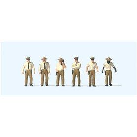 Preiser 10796 Amerikanska sheriffer, 6 st