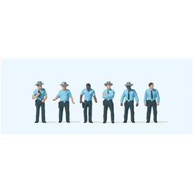 "Preiser 10798 Amerikanska poliser ""Highway Patrol"", 6 st"