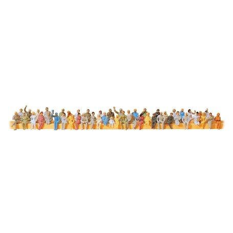Preiser 14400 Sittande figurer, storpack