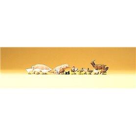 Preiser 79093 Set med massa olika djur