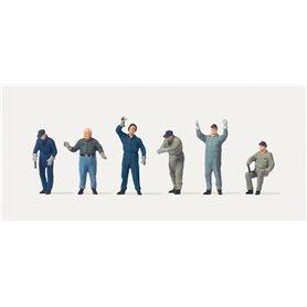 Merten H0 2575 Arbetare som lastar, 6 st
