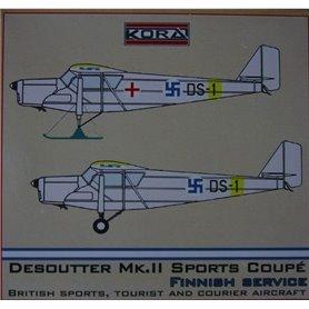 Kora Models 72171 Flygplan Desoutter Mk.II Sports Coupe (Finnish)