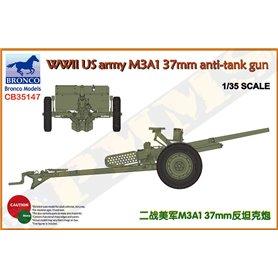 Bronco 35147 WWII U.S. army M3A1 37mm anti-tank gun