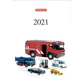 Media KAT453 Wiking Huvudkatalog 2021. Bilar i skala H0 och N, 39 sidor i färg
