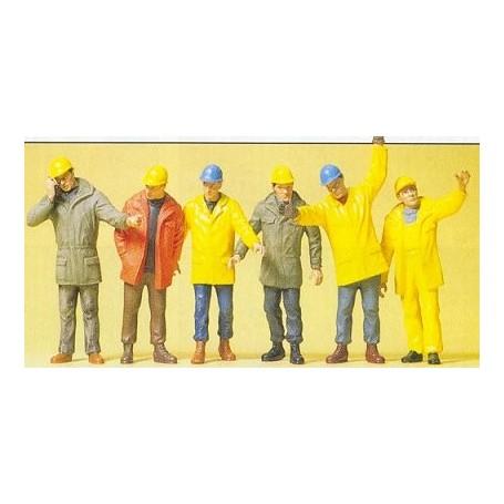 Preiser 68214 Arbetare i skyddskläder, 6 st