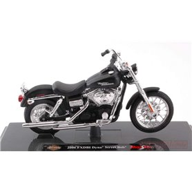 Maisto 39360-2 Motorcykel Harley Davidson 2006 FXDBI DYNA Street BOB, matt black