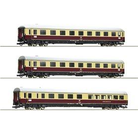 """Roco 74072 Vagnsset med 3 personvagnar TEE 74/75 """"Roland"""" DB"""