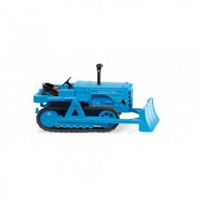 Wiking 84436 Hanomag K55 crawler tractor with dozer blade - light blue