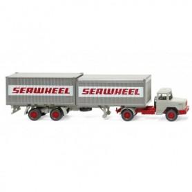 Wiking 52402 Container semi-truck (Magirus Deutz) 'Seawheel'