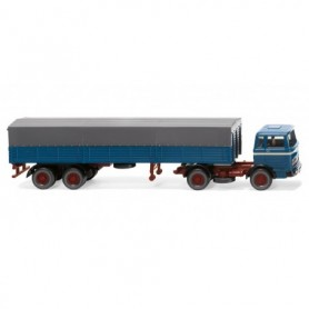 Wiking 51405 Flatbed truck (MB) - azure blue