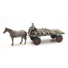 Artitec 387276 Coal cart with horse