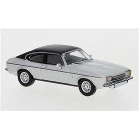 Brekina 870068 Ford Capri MK II, silver/matt svart, 1974, PCX