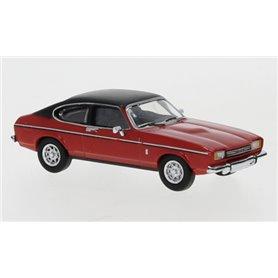 Brekina 870069 Ford Capri MK II, röd/matt svart, 1974, PCX