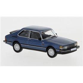 Brekina 870122 Saab 900 Turbo, metallic mörkblå, 1986